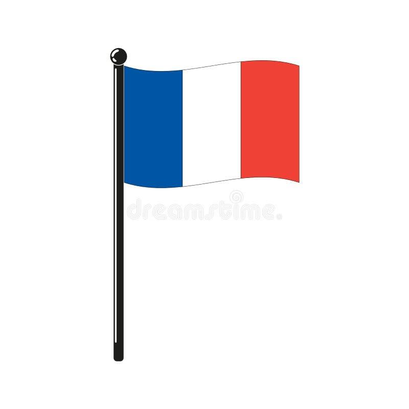 Krajowa francuz flaga ilustracji