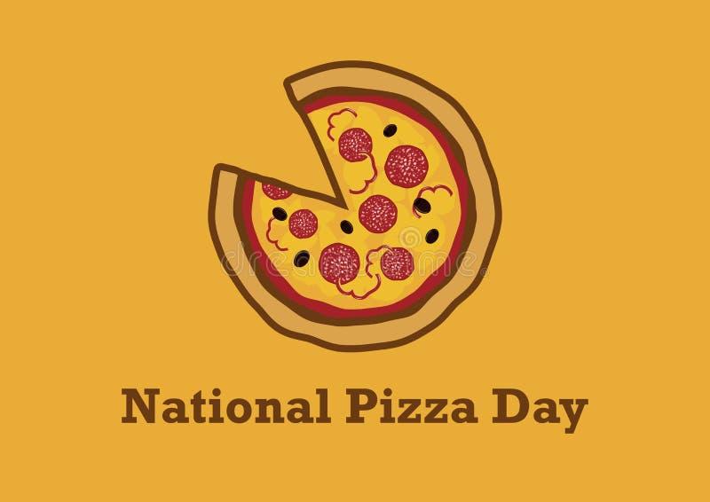 Krajowa pizza dnia wektoru ilustracja royalty ilustracja