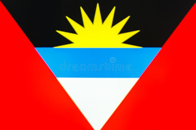 krajowe flagi antigua Barbuda obrazy royalty free