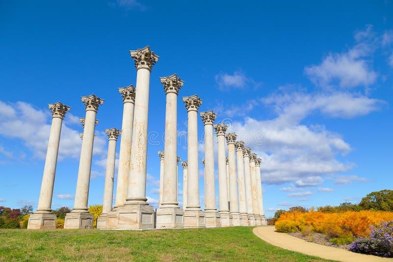 Krajowego Capitol kolumny przy zmierzchem obraz royalty free