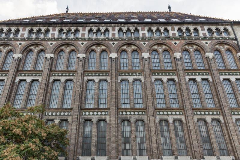 Krajowi archiwa Węgry budynku fasada zdjęcia royalty free