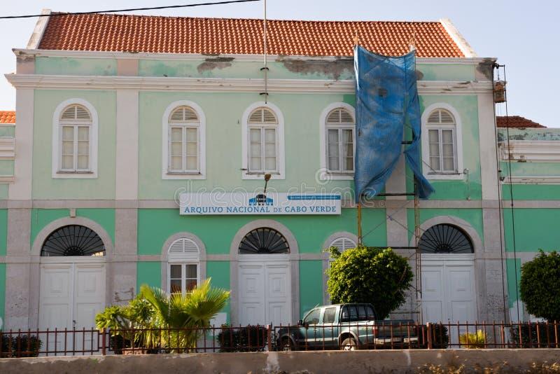 Krajowy archiwum przylądek Verde, Kolonialny Stary budynek zdjęcie stock