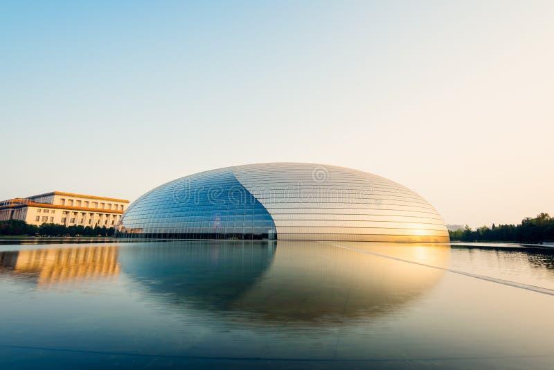 Krajowy Centre Pekin, Chiny dla przedstawień, - zdjęcie royalty free