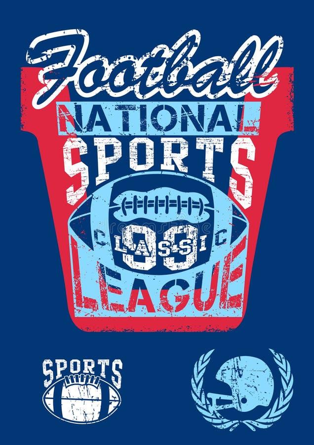 Krajowy futbol bawi się liga ilustracji
