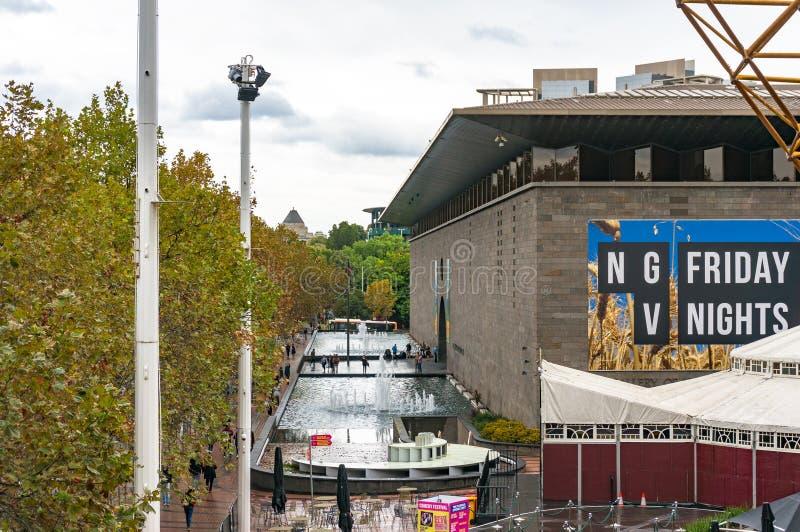 Krajowy galery Wiktoria budynku widok od above obrazy royalty free