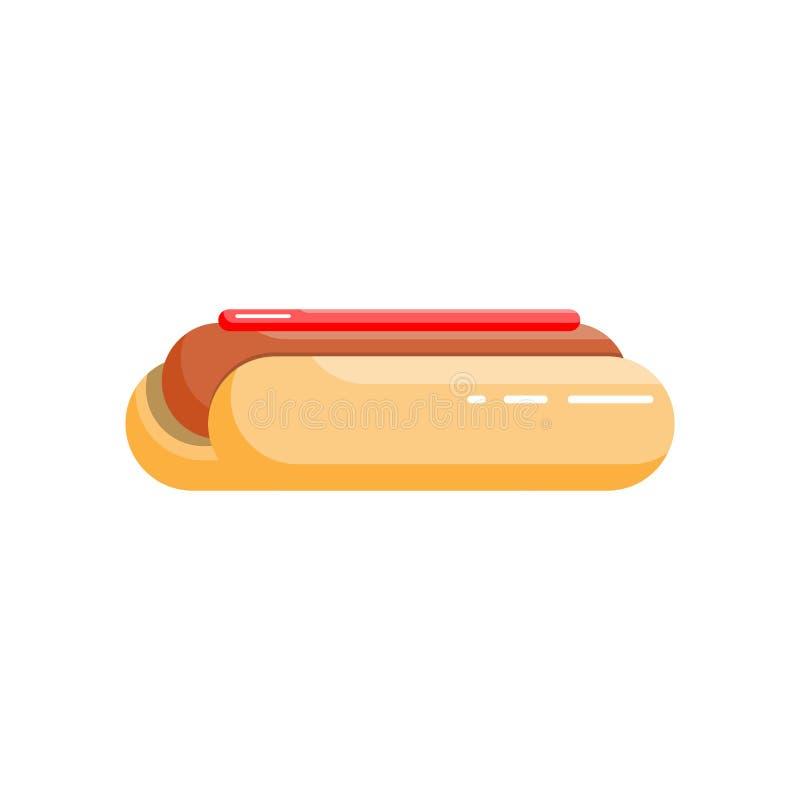Krajowy hot dog dnia wektorowy płaski sztandar ilustracji