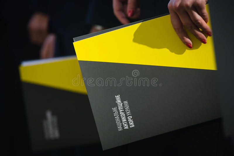 Krajowy korupci biuro Ukraina obraz royalty free
