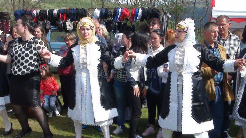 Krajowy kostium Gorani ludzie zdjęcie royalty free