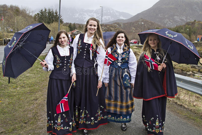 Krajowy kostium Lofoten fotografia royalty free