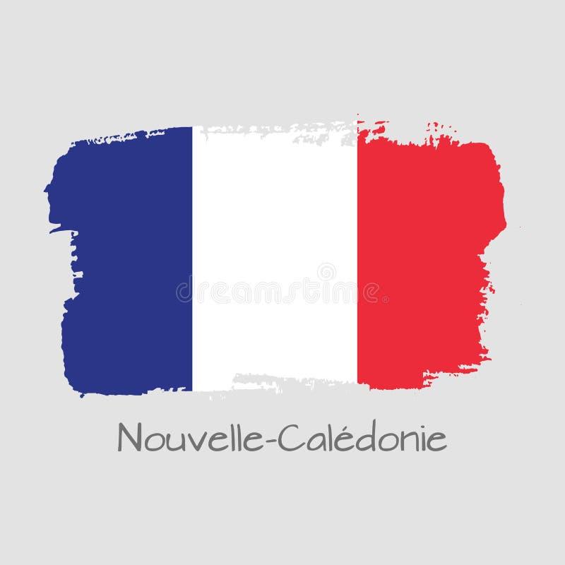 Krajowy Nowy Caledonia sztandar dla projekta ilustracji