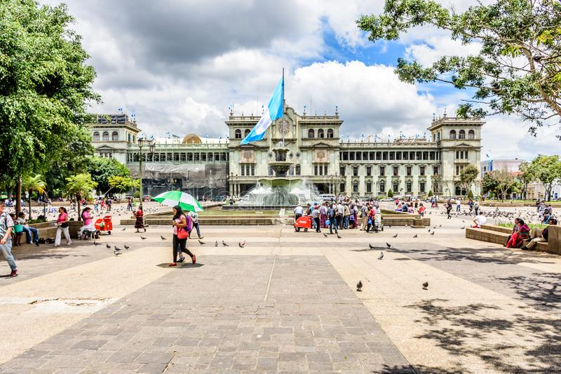 Krajowy pałac kultura, Plac De Los angeles Constitucion, Gwatemala fotografia royalty free