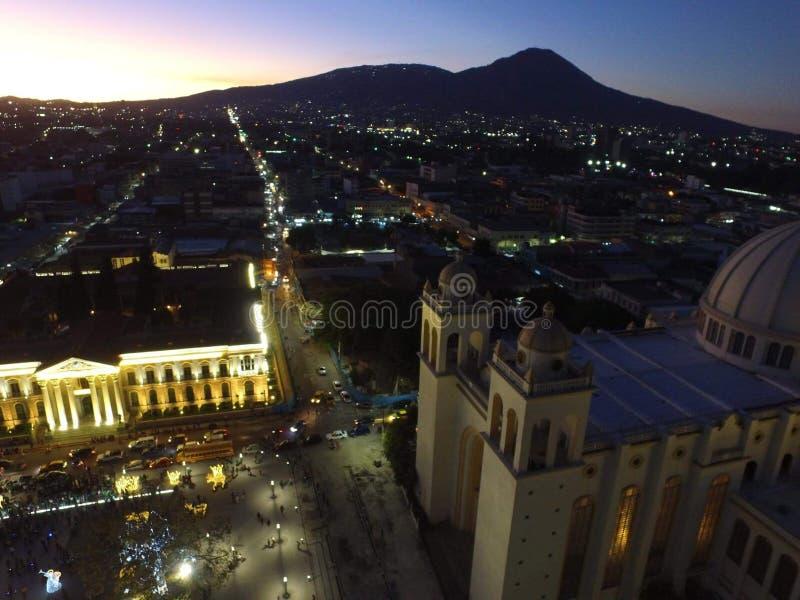 Krajowy pałac Salwador i katedra zdjęcia royalty free