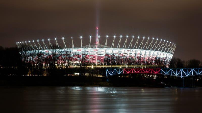 Krajowy stadium na rzecznym Vistula w Warszawa, Polska zdjęcie stock