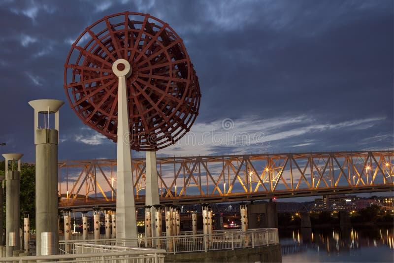 Krajowy Steamboat zabytek w Cincinnati obraz stock