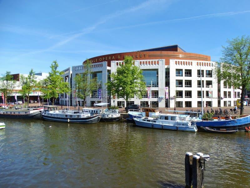 Krajowy teatr baletowy w Amsterdam i opera obrazy royalty free