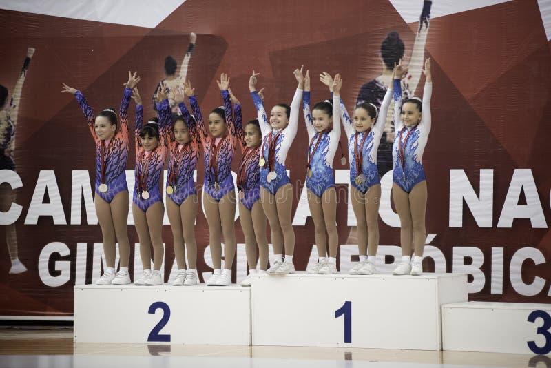 Krajowy Tlenowcowy gimnastyki mistrzostwo obraz royalty free