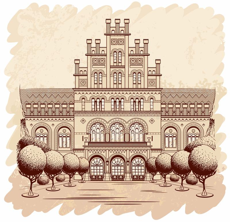 krajowy uniwersytet ilustracja wektor