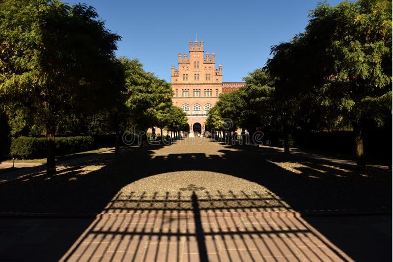 Krajowy uniwersytet w Chernivtsi, Ukraina Poprzednia siedziba fotografia royalty free