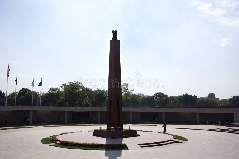 Krajowy Wojenny pomnik India dzwonił Amar Chakra lub okrąg nieśmiertelność w New Delhi, India zdjęcie stock