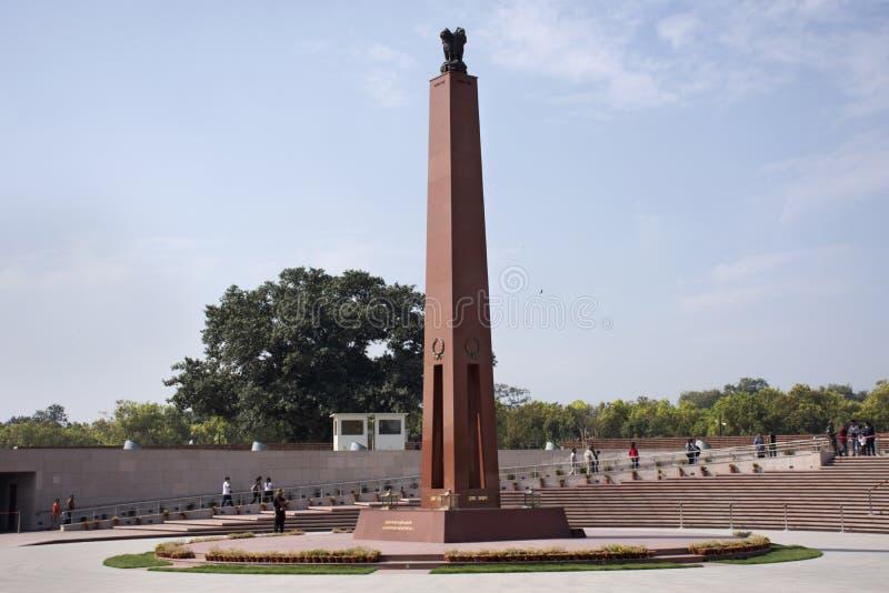 Krajowy Wojenny pomnik India dzwonił Amar Chakra lub okrąg nieśmiertelność w New Delhi, India fotografia royalty free
