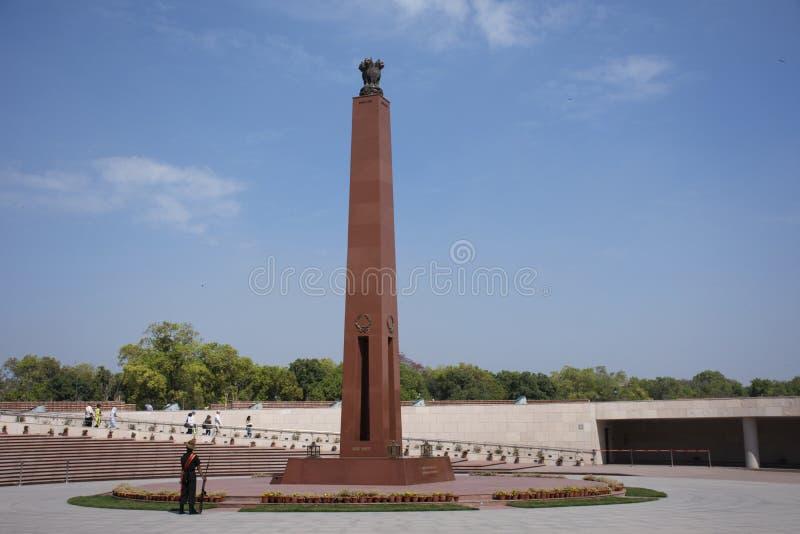 Krajowy Wojenny pomnik India dzwonił Amar Chakra lub okrąg nieśmiertelność w New Delhi, India zdjęcia stock