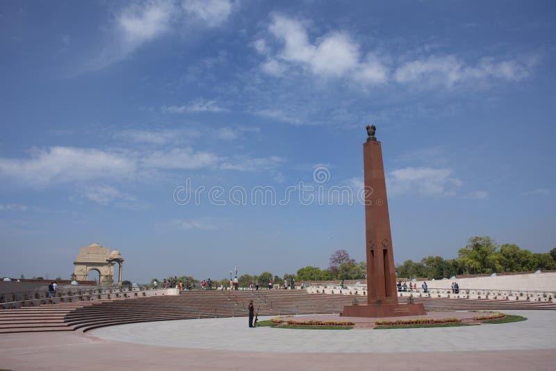Krajowy Wojenny pomnik India dzwonił Amar Chakra lub okrąg nieśmiertelność w New Delhi, India zdjęcie royalty free