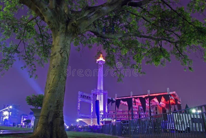 Krajowy zabytek z nocnym niebem obraz royalty free