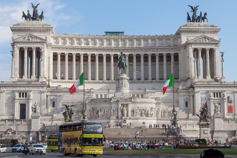 Krajowy zabytek zwycięzca Emmanuel II, Rzym Włochy obraz stock