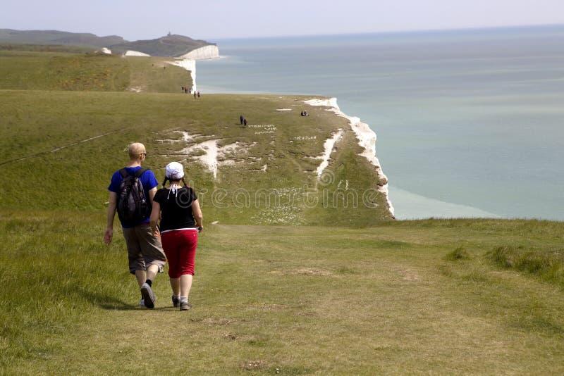 kraju parka siedem siostry Sussex obrazy stock