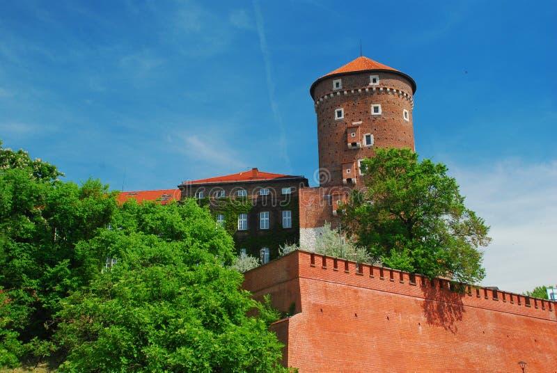 Kraków, Polonia. Castillo de Wawel imagenes de archivo