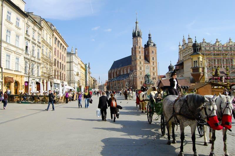 KRAKÓW, POLONIA - 26 de marzo de 2010 imágenes de archivo libres de regalías