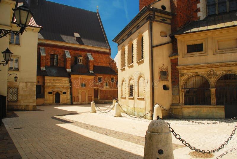 Kraków, Polonia. Viejo centro de ciudad imagen de archivo libre de regalías