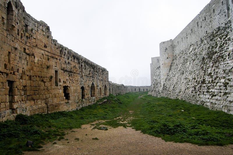 Krak des侠士城堡-叙利亚 免版税库存图片