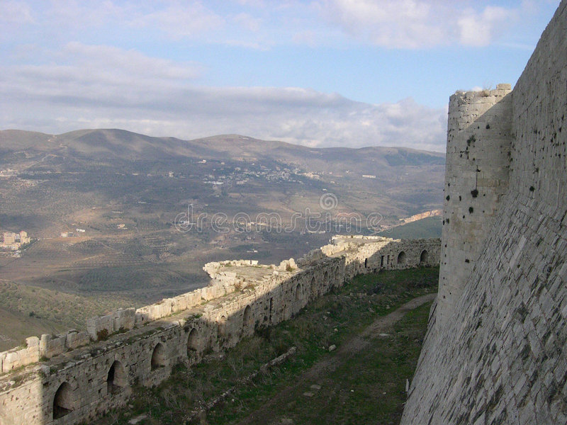 Download Krak des Chevaliers stock photo. Image of historic, hill - 157724