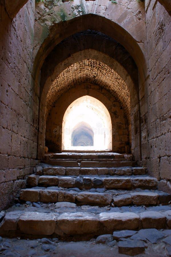 krak syria för fästning för chevalierskorsfararedes arkivbilder