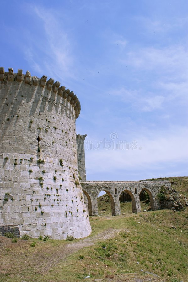 krak syria för fästning för chevalierskorsfararedes royaltyfri bild