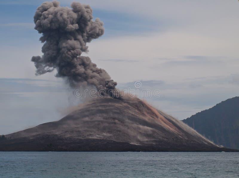 krakatoa royaltyfria foton
