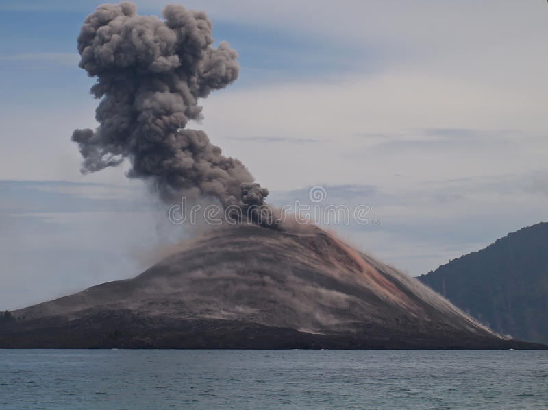 krakatoa 免版税库存照片