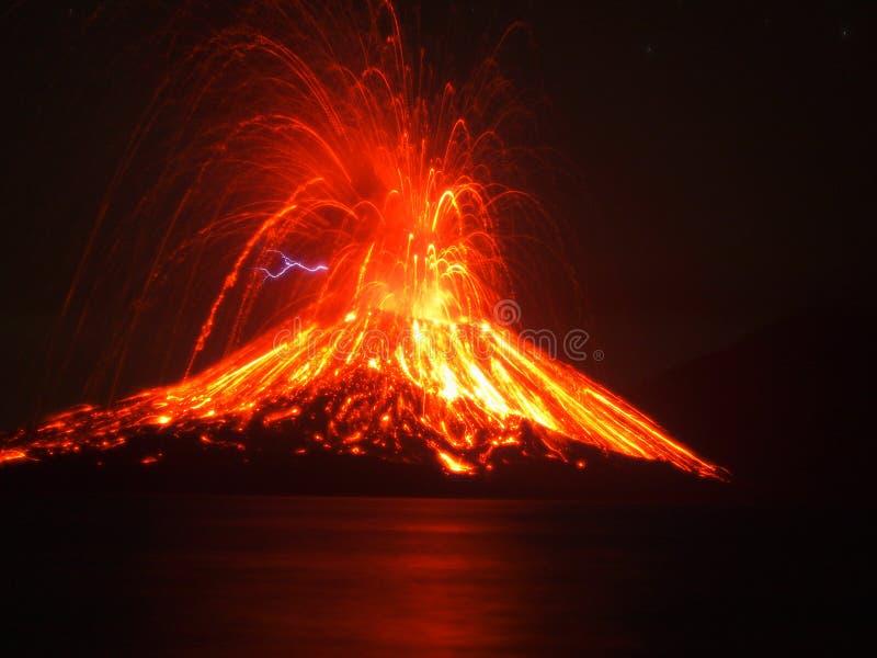 Krakatoa immagini stock libere da diritti