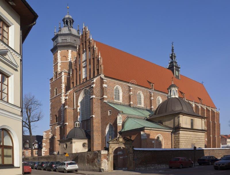 Krakau-- Christi-Kirche - Polen stockbild