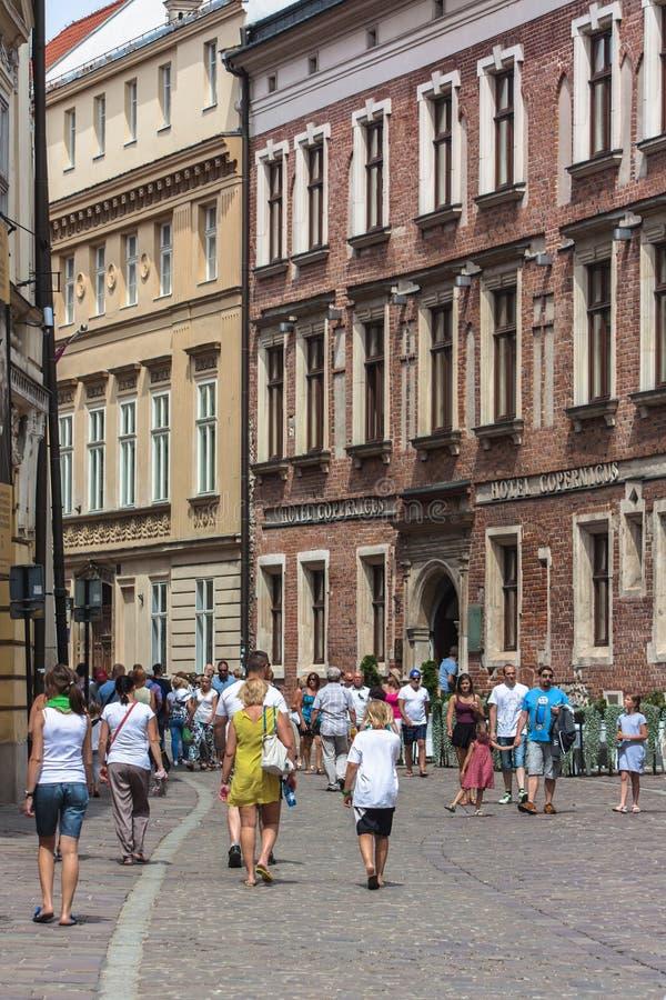 Krakau, die Kanoniczna-Straße stockfotografie