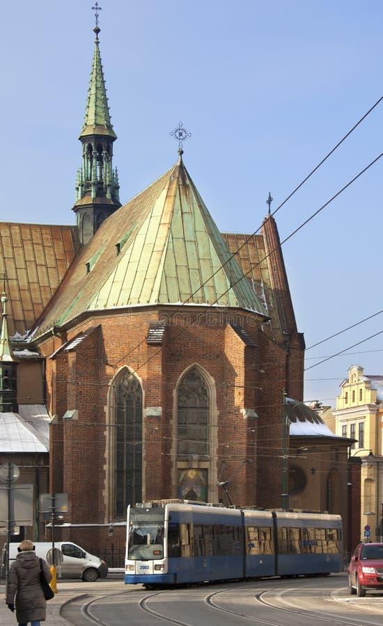 Krakau - Franziskanerkirche - Polen stockfotos