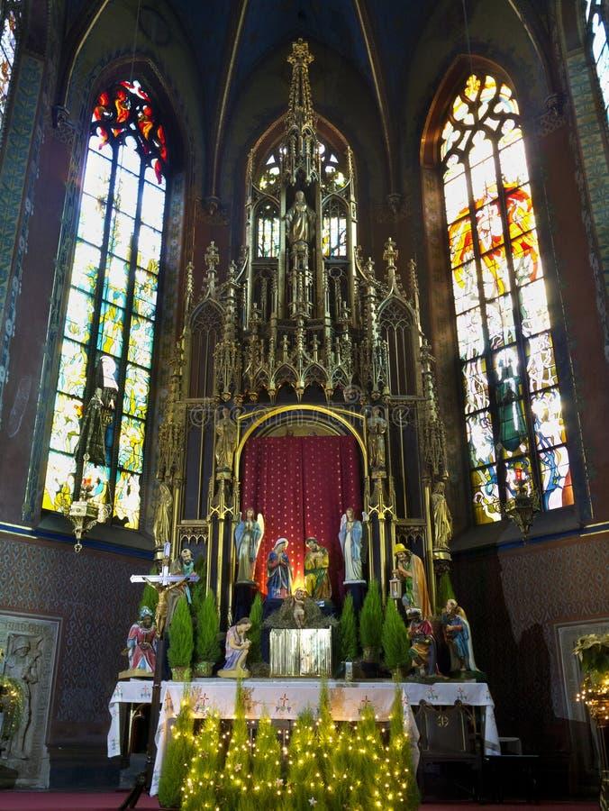 Krakau - Franziskanerkirche - Polen lizenzfreies stockbild