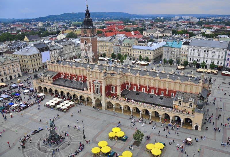 Krakau-Hauptplatz lizenzfreies stockbild