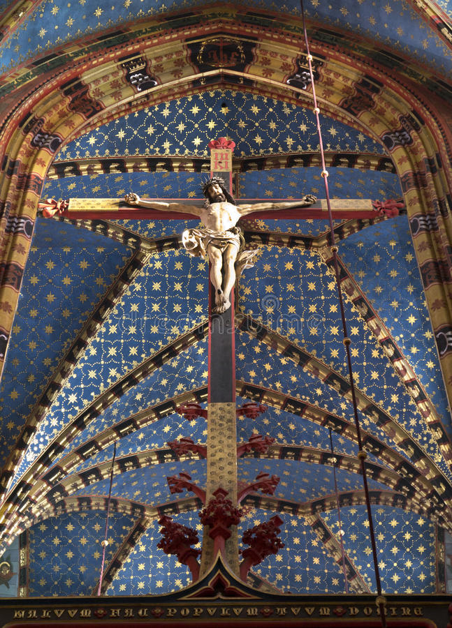 Krakau - Kerk van St Mary - Polen royalty-vrije stock foto's