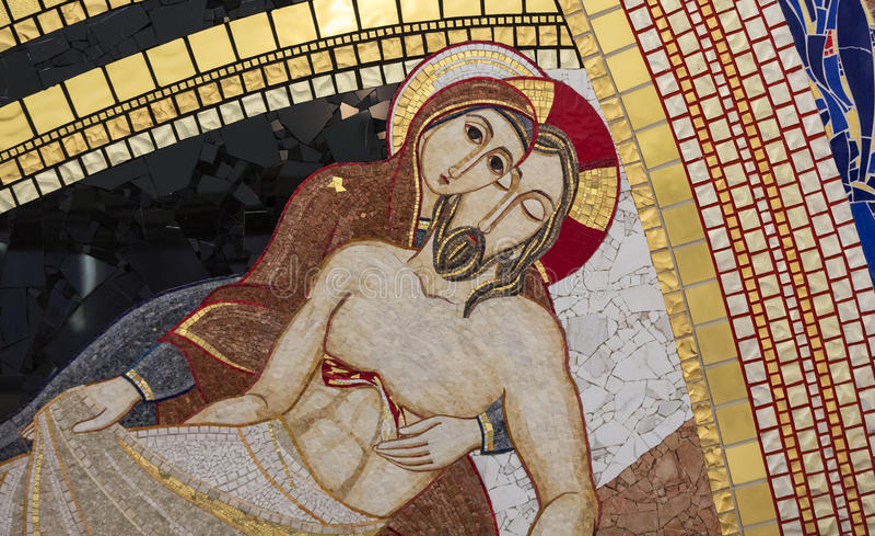 Krakau, Lagiewniki - die Mitte von Papst John Paul II lizenzfreies stockbild