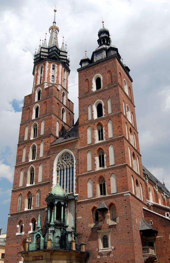 Krakau, Polen: Kirche Str.-Marys lizenzfreie stockfotografie