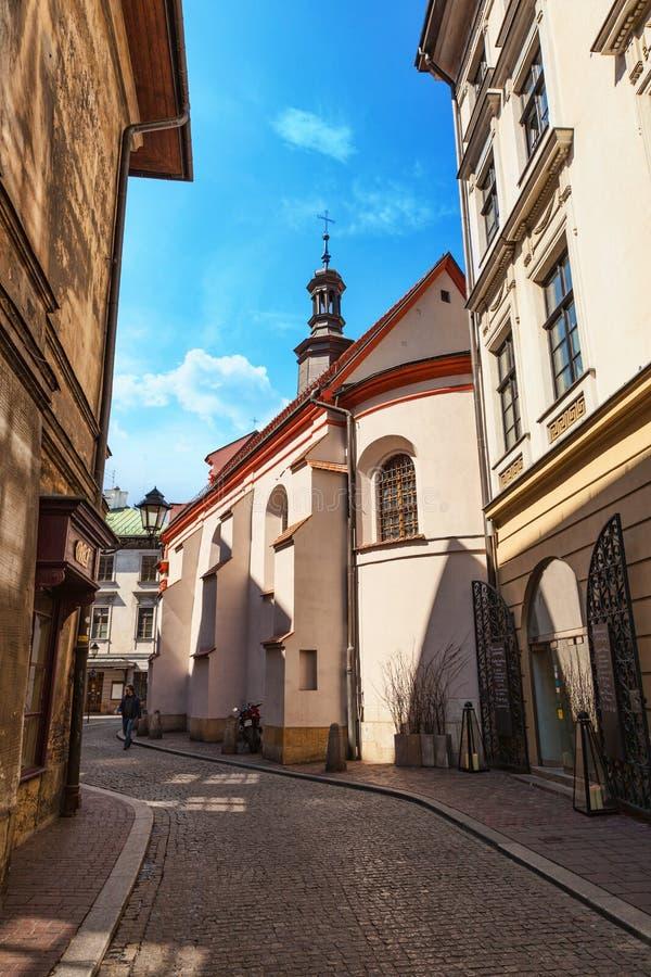 Krakau- - Polen-` s historische Mitte, eine Stadt mit alter Architektur stockfotografie