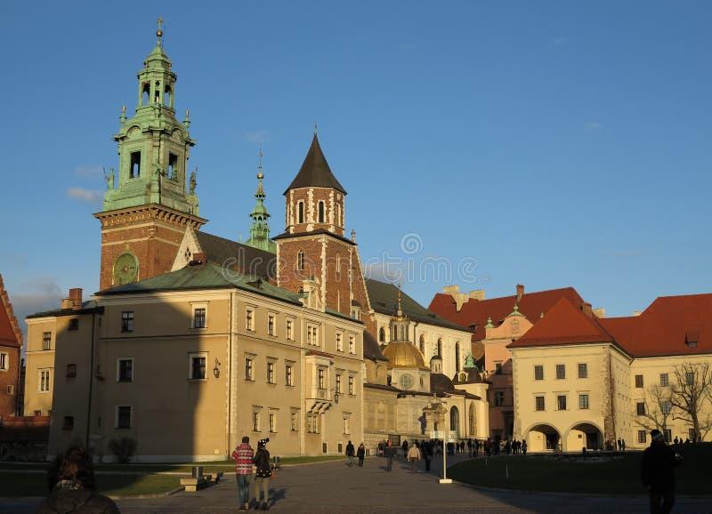 Krakau, Polen, Wavel-Schloss stockfotografie