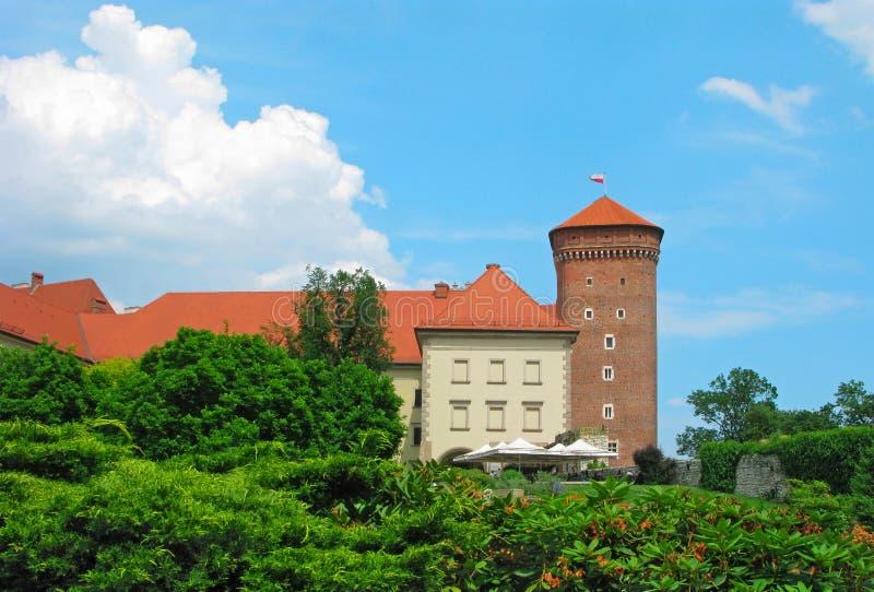 Krakau, Polen, Wawel-Schloss, Senator Tower lizenzfreie stockbilder